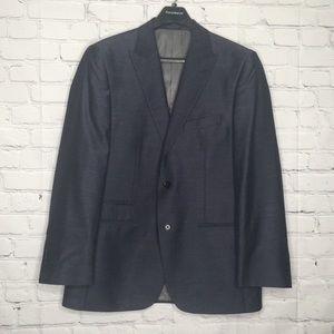 Steve Harvey metallic navy blue jacket size 42R